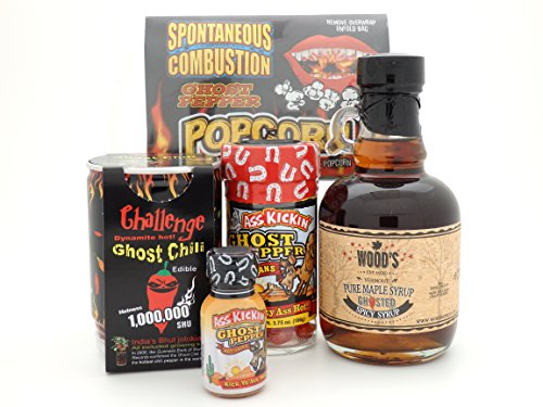 Ghost Pepper Spicy Gift Set - Popcorn Maple Syrup Jellybeans