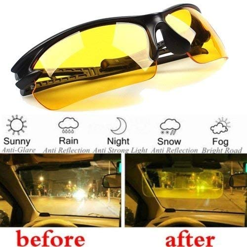 Driving Anti-Glare Sunglasses UV400 HD Polarized Sports Day Night Vision Sunglasses from CLKJYF