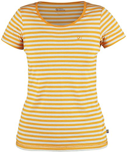 Fjallraven Women's High Coast Stripe T-Shirt, Seashell Orange, M
