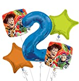 Toy Story Balloon Bouquet 2nd Birthday 5 pcs - Party Supplies