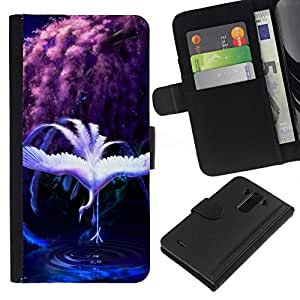All Phone Most Case / Oferta Especial Cáscara Funda de cuero Monedero Cubierta de proteccion Caso / Wallet Case for LG G3 // Rainbow Swan