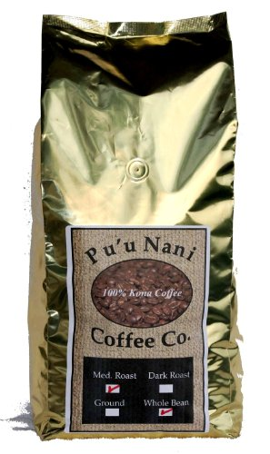 100% Kona Coffee Medium Roast Whole Bean 5lbs., Award Winning