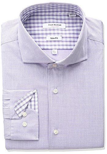 isaac-mizrahi-mens-slim-fit-micro-check-cut-away-collar-dress-shirt-purple-155-neck-34-35-sleeve