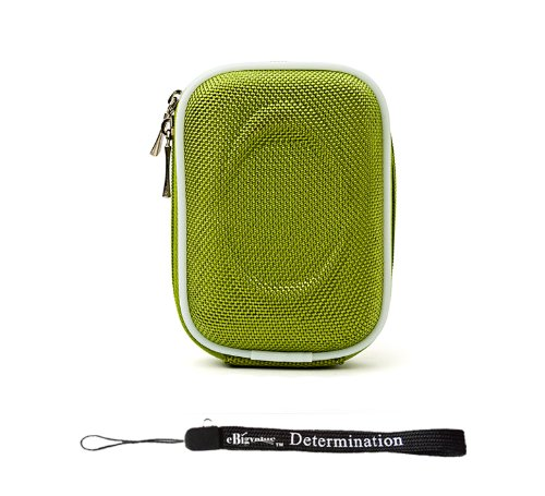 Nylon Green Slim Carrying Case for Casio EXILIM Card EX-S200