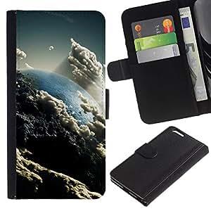 All Phone Most Case / Oferta Especial Cáscara Funda de cuero Monedero Cubierta de proteccion Caso / Wallet Case for Apple Iphone 6 PLUS 5.5 // Space Planet Galaxy Stars 57