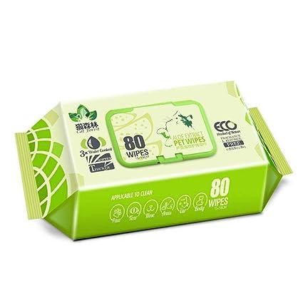 FOONEE Toallitas para Mascotas, desodorizantes, hipoalergénicas, sin Fragancia, orgánicas, antibacterianas,
