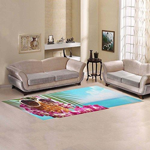 - JC-Dress Area Rug Ms Pineapple On Beach table Modern Carpet 10'x3'3