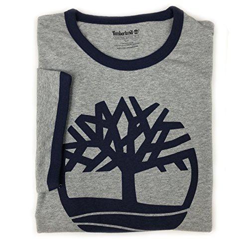 Ringer Heather Mens T-shirt (Timberland Men's Short Sleeve Tree Logo Ringer T-Shirt (Heather Grey, Medium))