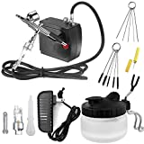Airbrush Kit with Mini Compressor Cleaning Kit Dual-Action Airbrush Spray Gun,Airbrush Cleaning Tools