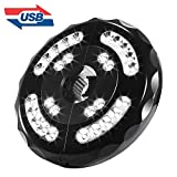 Umbrella Lights,BESWILL Patio Umbrella Lights Cordless 28 LED Lights with Three Lighting Modes for Camping Tents & Outdoor Use (Rechargeable)
