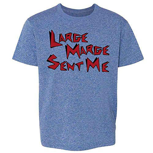 Pop Threads Large Marge Sent Me Funny Retro Heather Royal Blue L Youth Kids T-Shirt