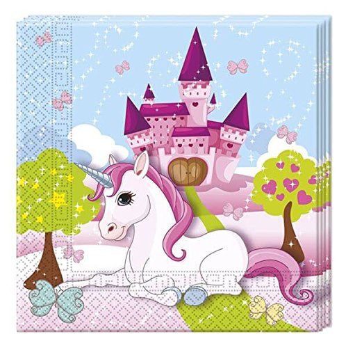 52-Pz. insieme del partito Unicorno - unicorno - Tovaglioli Tazze Piastra  per 16 Bambini  Amazon.it  Giochi e giocattoli f9e2172b2f1
