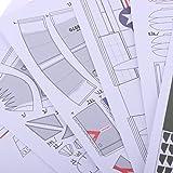 MagiDeal 1:33 3D A-4 Skyhawk Fighter Plane Aircraft Paper Model Assemble Hand Work
