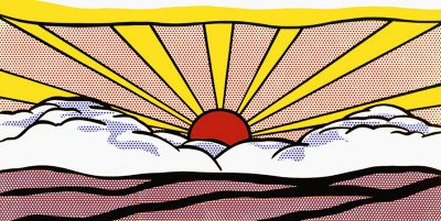 Sunrise, c.1965 Fine Art Poster Print by Roy Lichtenstein, 40x20