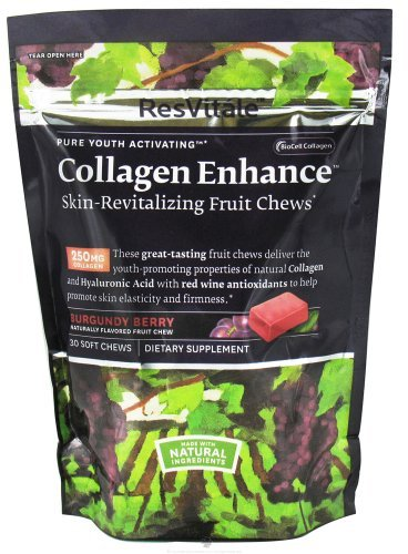 ResVitale Collagen Enhance - Burgandy Berry 30 Chews by - City Shopping Rapid Mall