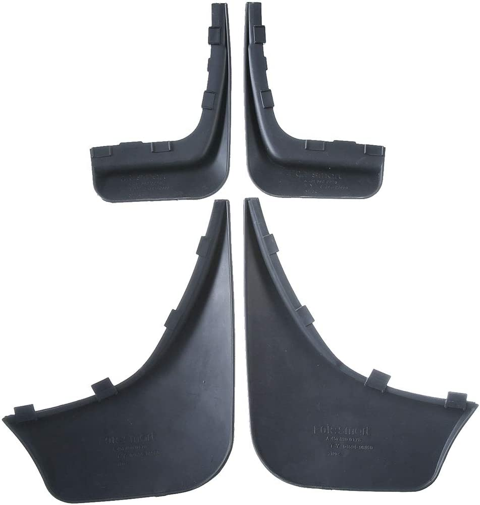 A-Premium Splash Guard Mud Flaps Replacement for Smart Fortwo 2008-2015 Coupe Convertible Front and Rear 4-PC Set