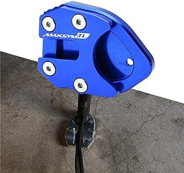 Anhuidsb Motocicleta CNC pata de cabra lateral del pie soporte de la placa de extensi/ón del coj/ín Soporte for SYM MAXSYM TL 500 Maxsym TL500 2020 Color : Azul