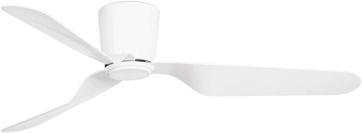Faro Barcelona 33471N - PEMBA Ventilador de techo sin luz blanco con motor DC 3 palas reversibles (la luz es opcional)