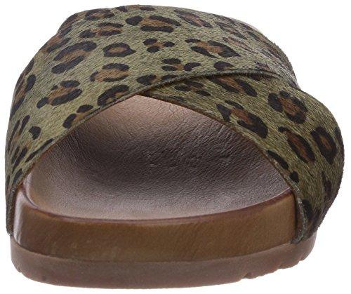 Inuovo ESTELLA - sandalias abiertas de piel mujer multicolor - Mehrfarbig (KHAKI LEOPARD)