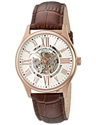Stuhrling Original Men's 747.04 Classic Atrium Analog Display Automatic Self Wind Brown Watch