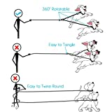 Double Dog Leash Coupler No Tangle with Pouch Bag, Double Dog Walking Leash with 1 Leash Control with Comfort Grip Dual Padded Handles, Adjustable Splitter Lead Trainer Leash for Two Dogs