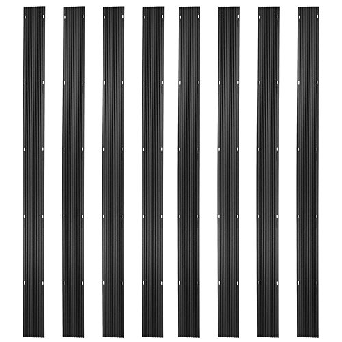 (Ice Black 64ft. Snowmobile Ski Carbide Glide Protector Guides - (8) 8ft. Sections)