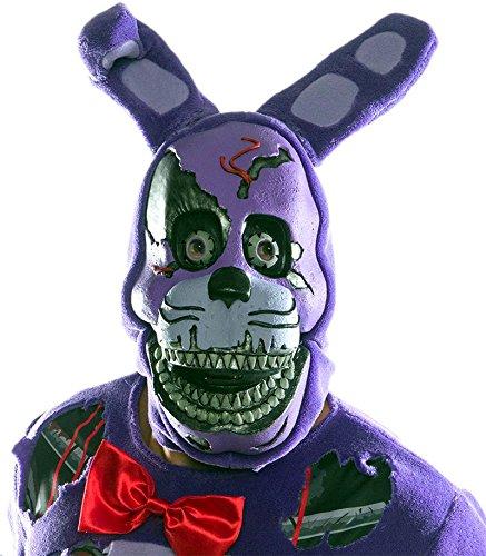 33928/12 Adult Five Nights At Freddys Nightmare Bonnie (Adult Freddy Vinyl Mask)