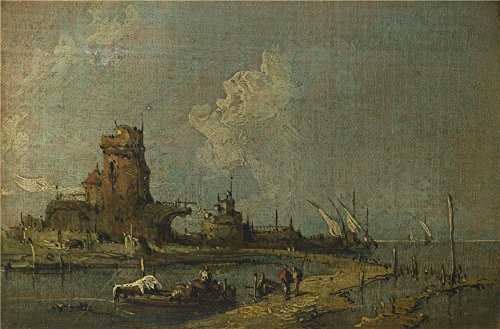 Oil Painting 'Imitator Of Francesco Guardi A Ruin Caprice', 24 x 36 inch / 61 x 93 cm , on High Definition HD canvas prints is for Gifts And Bed Room, Dining Room And Foyer Decoration