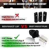 OneBom Faucet Plug Brush, 2 in 1 Beer Tap Cap