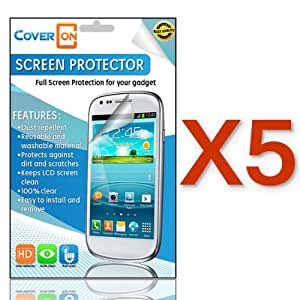 CoverON® 5 PACK CLEAR ANTI-GLARE LCD Screen Protector Shield for LG LS970 OPTIMUS G / ECLIPSE 4G LTE [WCJ44]