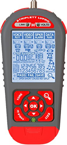 picture regarding Cat6 Cable Tester With Printable Results known as Triplett LVPRO30 Upgradeable Cable Tester with 12 Tester Programs for all Twine Patterns (COAX, CAT5/5e/6/6a/7, Guarded/Unshielded)