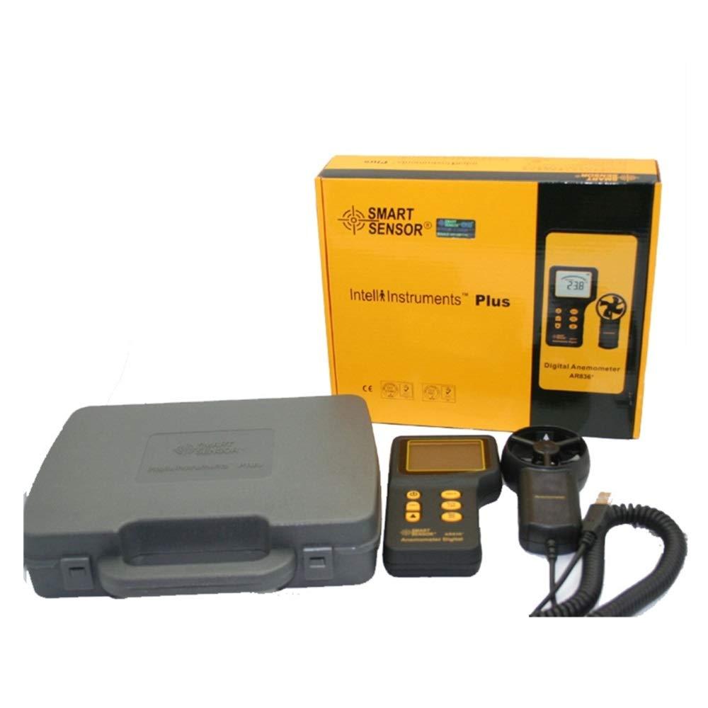 il misuratore del flusso daria misurazione AR836 la temperatura Anemometro palmare digitale con retroilluminazione LCD Misuratore di velocit/à del vento per misurare la velocit/à del vento