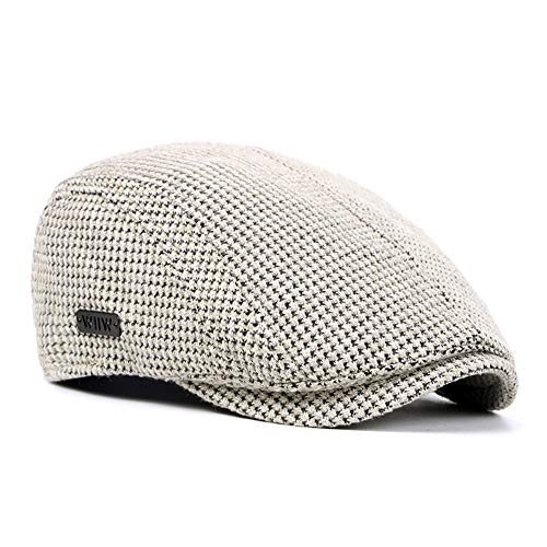 7d0626b3 AOXION Men's Cotton Flat Ivy Gatsby Newsboy Cabbie Driving Golf Hat Cap