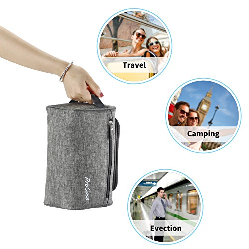 Procase Toiletry Bag Travel Case With Hanging Hook Dopp