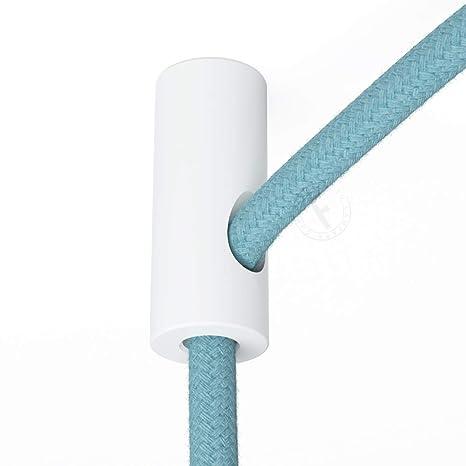 Sujeta cables color blanco para techo con prisionero ...