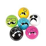 5'' Mustache Vinyl Ball (100/Cs)