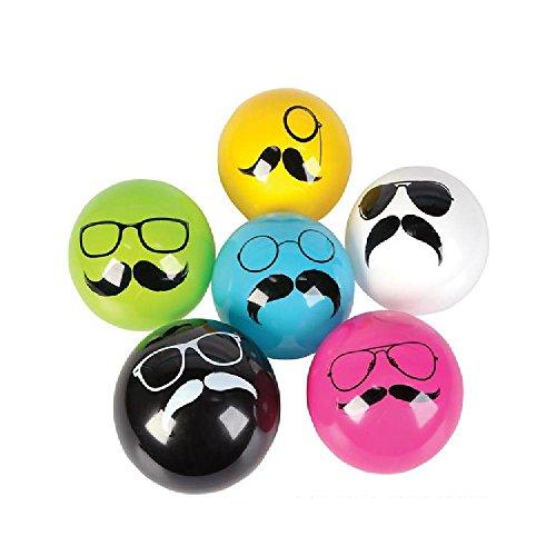 5'' Mustache Vinyl Ball (100/Cs) by Bargain World