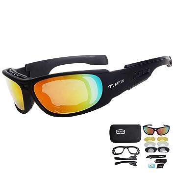 HTTOAR Moto Gafas de Sol polarizadas para Hombres Gafas de Seguridad Militares a Prueba de Balas Gafas de natación de Guerra Deportes al Aire Libre ...