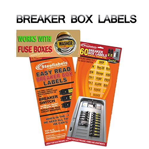"""""""Easy Read"""" Breaker Box Decals. Tough vinyl labels for Circuit Breakers, great for Home Owners, Apartment Complexes and Electricians. Place stickers directly on the breaker switch, makes identifying the right circuit easier. Best Quality at the Best"""