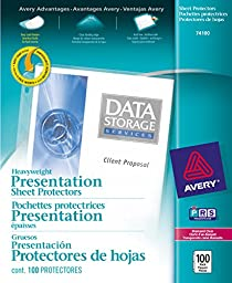 Avery Top-Loading Diamond Clear Poly Sheet Protectors, 100 Count (74100)