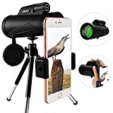 Monocular Telescope 12X50 FMC BAK4 Prism-High Powered Monocular Scope with Phone Adapter and Tripod-Single Hand Focus-Waterproof Fog Proof for Bird Watching Hunting (3)
