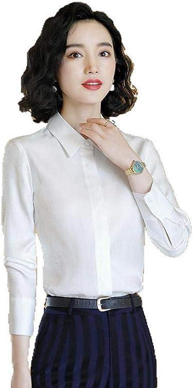 Blusas Y Camisas para Mujer Camisa De Gasa De Manga Larga Ocupación Temperamento Delgado: Amazon.es: Ropa y accesorios