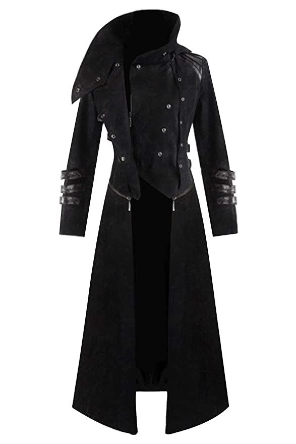Men's Steampunk Clothing, Costumes, Fashion Mens Steampunk Victorian Coat Tailcoat Jacket Halloween Long Gothic Vintage Costume $48.99 AT vintagedancer.com