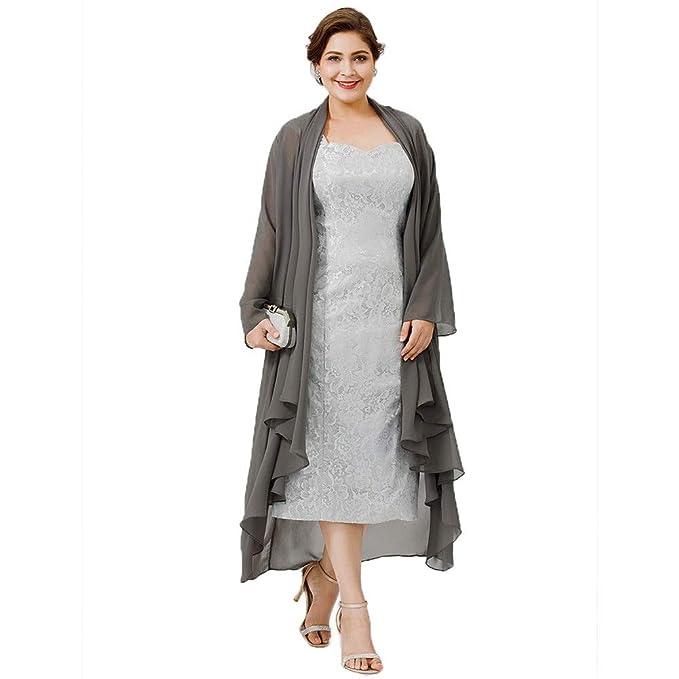 Amazon.com: ANTI Vestido de novia con chaqueta de gasa para ...
