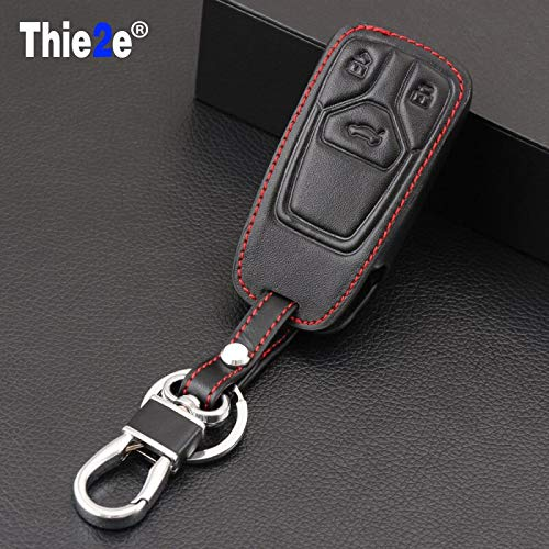 (Star-Trade-Inc - Leather car key fob cover case skin shell set bag for Audi A4 allroad B9 Q5 Q7 TT TTS remote keyless protected)
