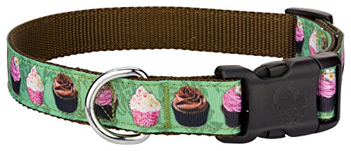 - Country Brook Design | Deluxe Lime Cupcakes Ribbon Dog Collar - Small