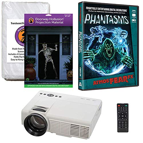Halloween Window Projection Kit Includes 1200 Lumen Projector,