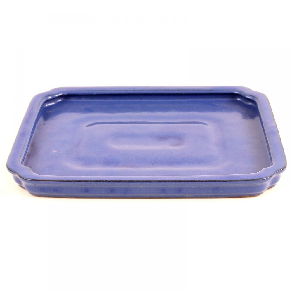 Bonsai Plant Pot Saucer Rectangular, 27 x 20 cm Blue 53251 Bonsai-Shopping