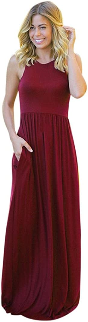 Sexyp Pleated Maxi Boho Dress