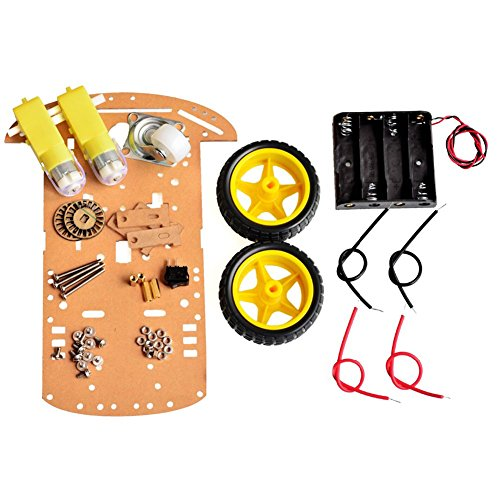 Wangdd22 2WD Motor Smart Robot Car Chassis Kit Speed Encoder Battery Box for Arduino